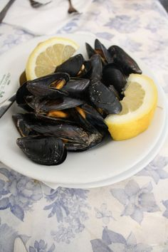 Some of the best seafood you'll ever taste along the Italian coast - black mussels in Amalfi.