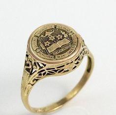 Vintage Antique 14k Gold Catholic Girls High School Class Ring Philadelphia | eBay