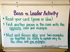 Bosses vs. Leaders Lesson   Freebies + The Leader in Me activity