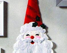 Bucilla Believe in Santa Felt Christmas Wall Hanging Kit Tissue Box Covers, Tissue Boxes, Felt Christmas, Christmas Ornaments, Felt Wall Hanging, Christmas Wall Hangings, Felt Applique, Kit, Gingerbread Man