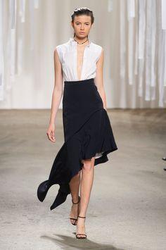 Perfect Black Skirt // Milly Spring 2015 RTW #NYFW