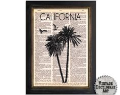 California Coast - Surf Series 1 - Dictionary Art Print