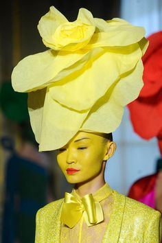 Yellow hat. Alexis Mabille Haute Couture Spring 2012