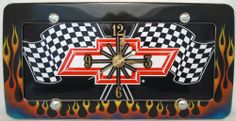1 , Bowtie Quartz Clock, on a, 'CHEVY, RED, BOW TIE, on a, CHECKERED FLAGS', Metal Sign, on a, Metal, Flames, Frame,,25A5.0&29B2.4,,,SHIPPED USPS,,,,,,,,, ASTRODEALS,http://www.amazon.com/dp/B00HXL0ER8/ref=cm_sw_r_pi_dp_2-pftb013PY9BNK1