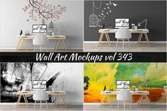 Wall Mockup - Sticker Mockup Vol 343 by Creative Interiors on @Graphicsauthor