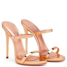 AIWEIYi Womens Roman Style High Heel Stiletto Open Toe Dress Sandals Slides Gold Champagne * Continue to the product at the image link. Hot High Heels, Platform High Heels, High Heels Stilettos, Stiletto Heels, Zapatos Shoes, Giuseppe Zanotti Heels, Slipper Sandals, Fashion Heels, Womens Shoes Wedges