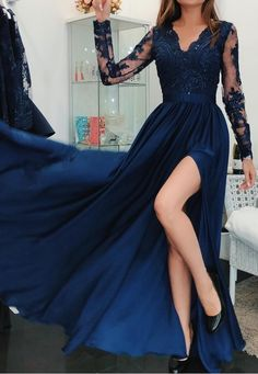 Stunning Royal Prom Dress Blue Split Prom Dresses A Line Sheer Long Sleeves Party Dress Appliques Sequins Evening Dress Long Evening Gowns Arabic Party Gowns Cheap - Stunning Royal Blue Split Prom Dresses A Line Source by desislavakarach - Split Prom Dresses, Prom Dresses Long With Sleeves, A Line Prom Dresses, Ball Gown Dresses, Bridesmaid Dresses, Grad Dresses, Dress Long, Blue Dress With Sleeves, Open Dress