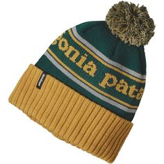 Patagonia Powder Town Beanie ($31) ❤ liked on Polyvore featuring men's fashion, men's accessories, men's hats and mens beanie hats