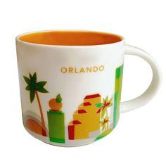 starbucks you are here orlando ceramic coffee mug new with box