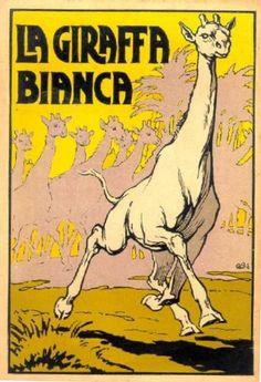 La giraffa bianca 1928 - Copertina (cover) di Carlo Romanelli - The white giraffe