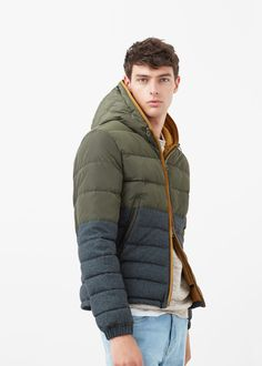 Mixed quilted jacket