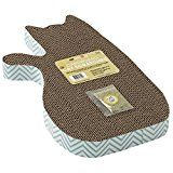 $15.47  - Pet Rageous 13078 Blue Chevron Print 20.87 x 12.4 x 3.54 Cat Shape Tom's Corrugated Scratcher *** Want additional info? Click on the image. (This is an affiliate link) #CatScratchingPads