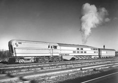 1 of 3 Chesapeake & Ohio M-1 steam turbines built for the Chessie streamliner somewhere between Clifton Forge and Charlottesville, Virginia 1947-50 [[MORE]] https://en.wikipedia.org/wiki/Chesapeake_and_Ohio_class_M-1