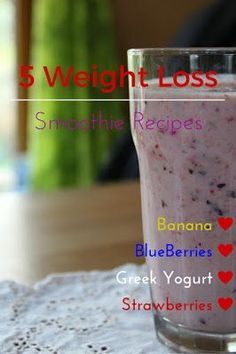 5 healthy smoothie recipes to make your diet easier! Lose the weight that you wa… 5 healthy smoothie recipes to make your diet easier! Lose the weight that you want to by starting breakfast off with some antioxidants and detoxing fruit smoothies! Banana Yogurt Smoothie, Smoothie Recipes With Yogurt, Weight Loss Smoothie Recipes, Yogurt Recipes, Smoothie Drinks, Detox Drinks, Juice Recipes, Fruit Recipes, Low Fat Smoothies