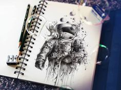your daily dose of art, inspiration and creativity! Astelvio loves viral videos, advertising, unconventional art, street art and more cool stuff! Best Sketchbook, Sketchbook Drawings, Art Sketches, Amazing Drawings, Cool Drawings, Pencil Drawings, Amazing Sketches, Art Du Croquis, Grand Art