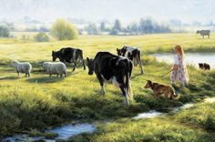 Cow Girl – Cow Art and More