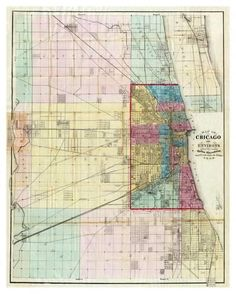 Map showing old Chicago area airfields | Chicago | Pinterest ...