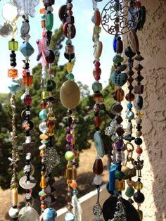 Mobile Suncatcher Chimes Home Garden Decor Beads and by LiLaXO #boho #bohemian #gypsy #hippie decor