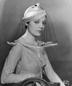 Vintage veil hat c.1933