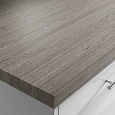 Silver Oak Grain Laminate Square Edge Worktop | Benchmarx Kitchens & Joinery