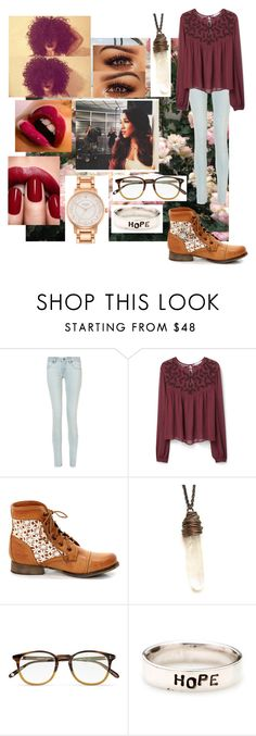 """""""Untitled #184"""" by sydni-g721 ❤ liked on Polyvore featuring BLANKNYC, MANGO, Steve Madden, Garrett Leight and Kate Spade"""