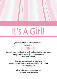 Customizable baby shower invitation template - Pink Wave