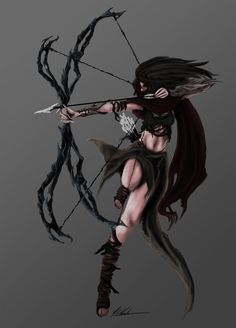 Woodland Archer with a really cool bow!