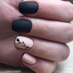 66 Trendy Manicure Colors For Short Nails Black Nail Designs, Short Nail Designs, Simple Nail Designs, Matte Black Nails, Blue Nails, Matte Blush, Matte Gel Nails, Black Manicure, Matte Pink