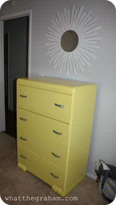Yellow Dresser for Nursery