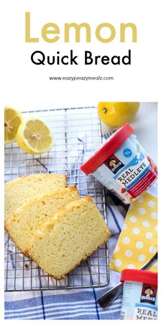 Lemon quick bread hero