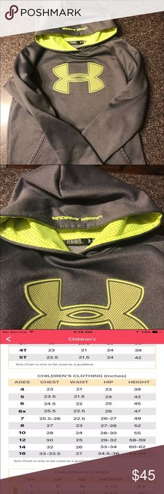 Boys YL under armour hoodie See last pic for full description .. BNWOT Under Armour Jackets & Coats