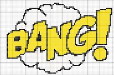 BANG comic sound effect pattern by RawrrThePeowPeow