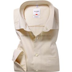 Olymp - Olymp Beige Chambray Shirt - Regular Collar - Comfort Fit
