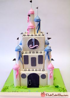 1st Birthday Fantasy Castle Cake by Pink Cake Box