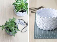 DIY: Korb aus Papier - von Sinnenrausch