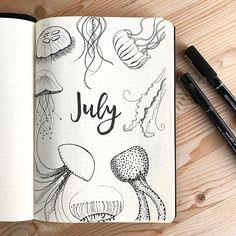 • july •. #artjournal #bujo #bulletjournal #handdraw #bulletjournaljunkies #doodleart #planner #bujojournaling #bujoaddict #bujolove…