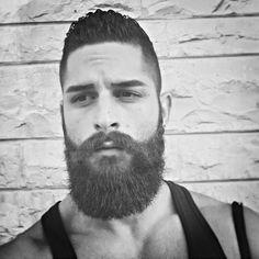 @najibobeid #beard #beardgang #beards #beardeddragon #bearded #beardlife #beardporn #beardie #beardlover #beardedmen #model #blackandwhite #beardsinblackandwhite