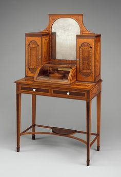 Dressing table Seddon, Sons and Shackleton (1793–1800) Date: ca. 1790–95 Culture: British, London Medium: Mahogany, glass, ivory