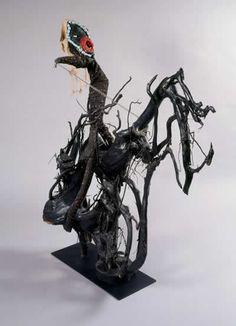 """""""Black Horse of Revelations"""" by Bessie Harvey African American Art, African Art, Great Sword, Horsemen Of The Apocalypse, Thing 1, Biblical Art, Outsider Art, Three Dimensional, Painting On Wood"""