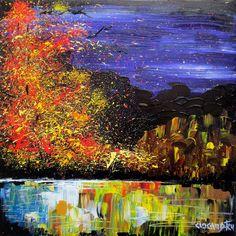 TOAMNA Mod de realizare : acrilic pe panza Dimensiune : 50 x 50 cm Lucrare disponibila Acrylic Paintings, Timeline Photos, Art, Kunst, Art Education, Artworks