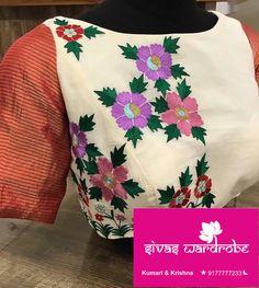 Blouse Designs, Blouses, Embroidery, Sweatshirts, Sweaters, Fashion, Needlework, Moda, Hoodies