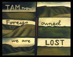 Colin McCahon foreign owned land depicted in art, FUCK YOU John key