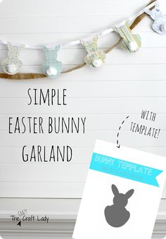 24 Inspired Photo of Scrapbook Ideas Diy Free Printables . Scrapbook Ideas Diy Free Printables Simple Easter Bunny Garland Pb Inspired The Crazy Craft Lady Easter Bunny Template, Easter Templates, Bunny Templates, Easter Printables, Free Printables, Knock Off Decor, Easter Garland, Easter Crafts, Easter Decor