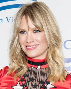 The Best Celebrity Lob Haircuts of 2017 - January Jones from InStyle.com