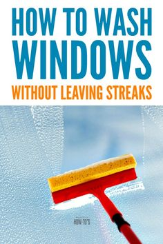 How to Wash Windows Without Leaving Streaks - Ever since a professional window-washer gave me these tips, I've stopped putting off this chore. Window Cleaning Solutions, Window Cleaning Tips, Deep Cleaning Tips, Household Cleaning Tips, House Cleaning Tips, Diy Cleaning Products, Spring Cleaning, Cleaning Hacks, Best Window Cleaning Solution