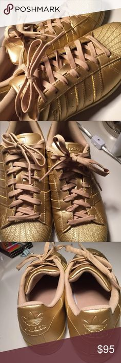 All god adidas superstars No scratches nor marks , basically NEW . Make me an offer! Bundle and save adidas Shoes Sneakers