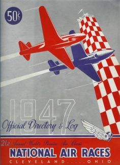 1939 NATIONAL AIR RACES ART DECO Refrigerator Tool Box Magnet
