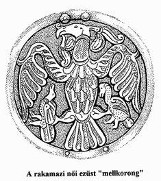 Rakamazi női ezüst mellkorong - szent állatok, a turul és a griff