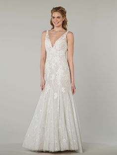 MZ2 by Mark Zunino - V-Neck Fit and Flare in Chiffon