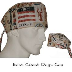 Surgical Scrub Cap East Coast Days 100% cotton made in the USA
